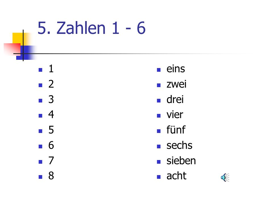 German Year 4 Units Numbers/Zahlen 1 – 12 How old are you.