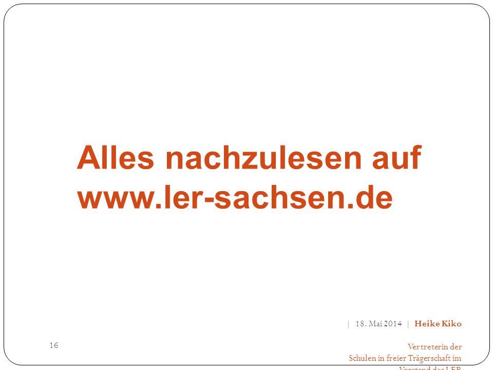 16 Alles nachzulesen auf www.ler-sachsen.de