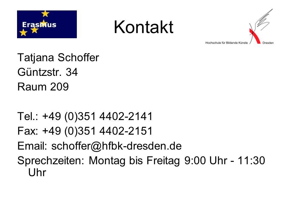 Kontakt Tatjana Schoffer Güntzstr.
