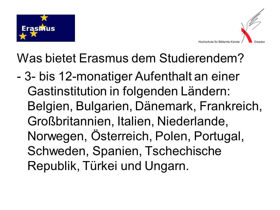 Was bietet Erasmus dem Studierendem.