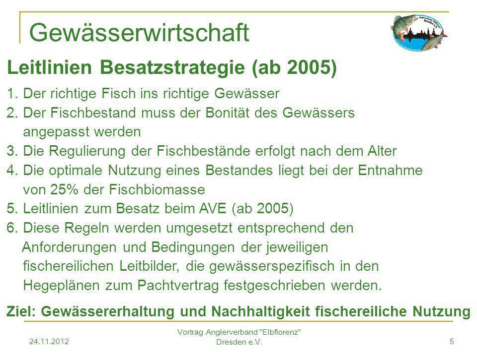 24.11.2012 Vortrag Anglerverband Elbflorenz Dresden e.V.6 Gewässerwirtschaft Ich glaube wir müssen akzeptieren, dass Deutschland eine Kulturlandschaft ist….