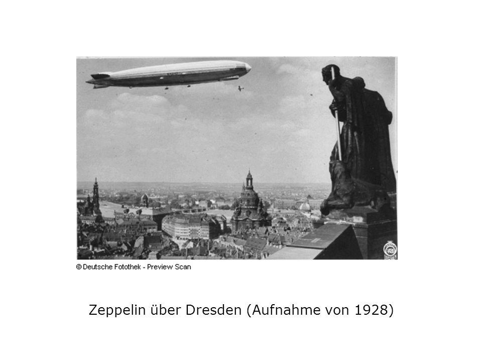 Zeppelin über Dresden (Aufnahme von 1928)