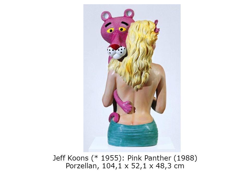 Jeff Koons (* 1955): Pink Panther (1988) Porzellan, 104,1 x 52,1 x 48,3 cm
