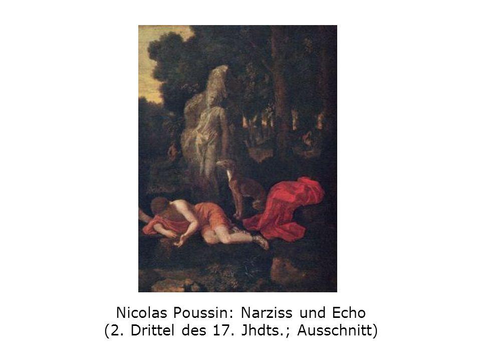Nicolas Poussin: Narziss und Echo (2. Drittel des 17. Jhdts.; Ausschnitt)