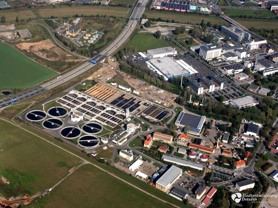 Ausbau Schlammbehandlung Kläranlage Dresden-Kaditz EindickungEntwässerungTrocknung Bestandsanlage Faulung modifiziert Klärschlammfaulung Faulung geplant Verbessert die Faulung das betriebswirtschaftliche Gesamtergebnis.
