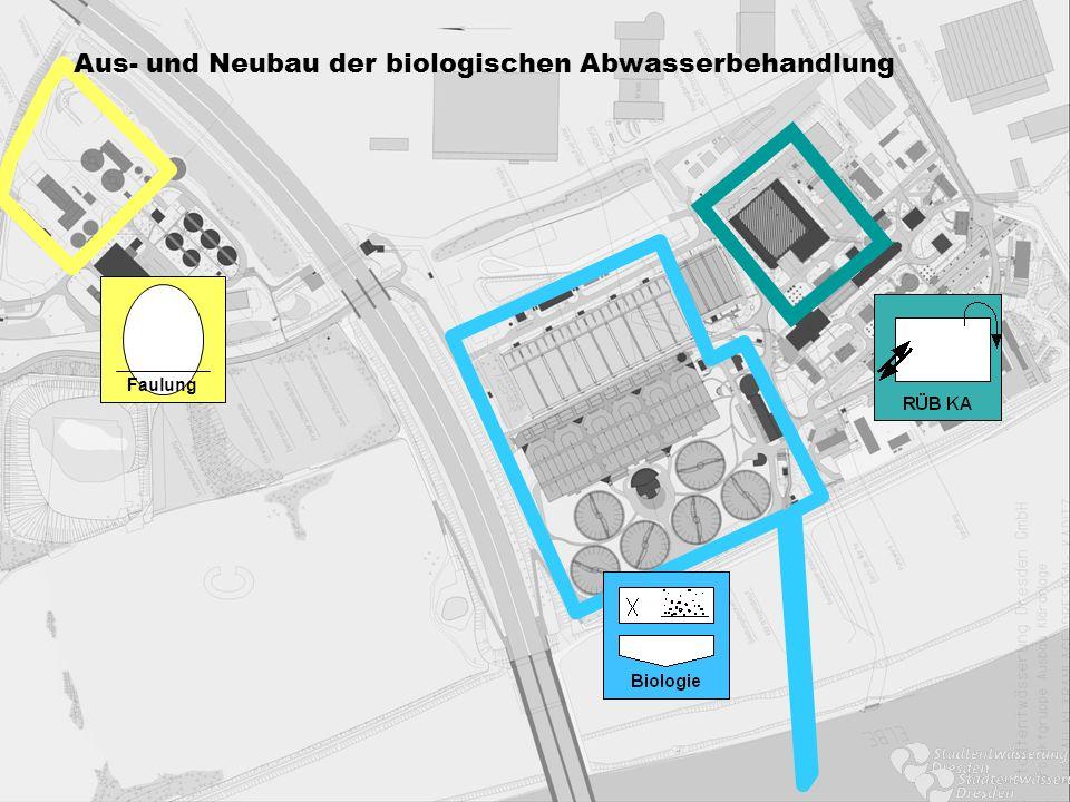 Faulung Aus- und Neubau der biologischen Abwasserbehandlung