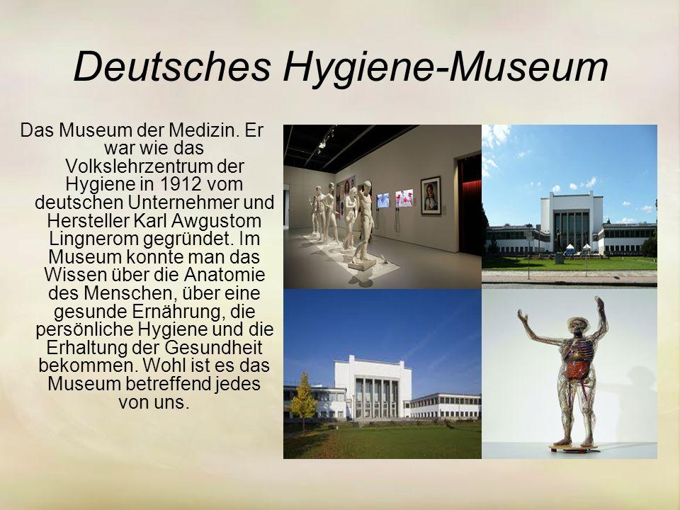 Deutsches Hygiene-Museum Das Museum der Medizin.