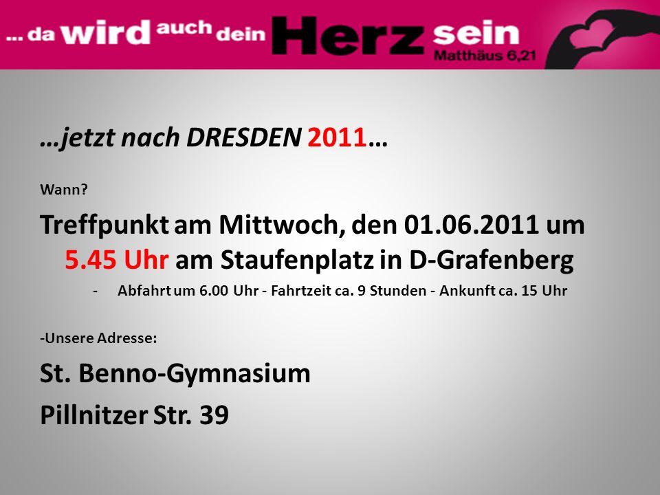 Wann? Treffpunkt am Mittwoch, den 01.06.2011 um 5.45 Uhr am Staufenplatz in D-Grafenberg -Abfahrt um 6.00 Uhr - Fahrtzeit ca. 9 Stunden - Ankunft ca.