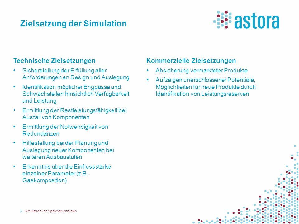 Zielsetzung der Simulation 3Simulation von Speicherkennlinien Technische Zielsetzungen Sicherstellung der Erfüllung aller Anforderungen an Design und