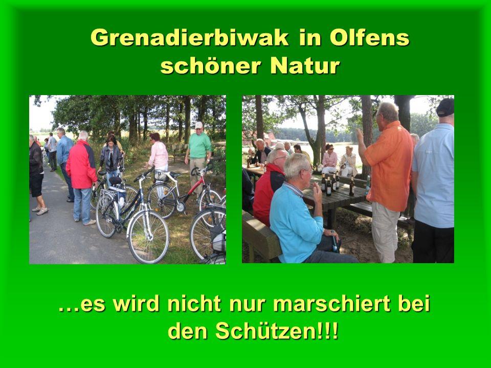 Grenadierbiwak in Olfens schöner Natur …es wird nicht nur marschiert bei den Schützen!!!
