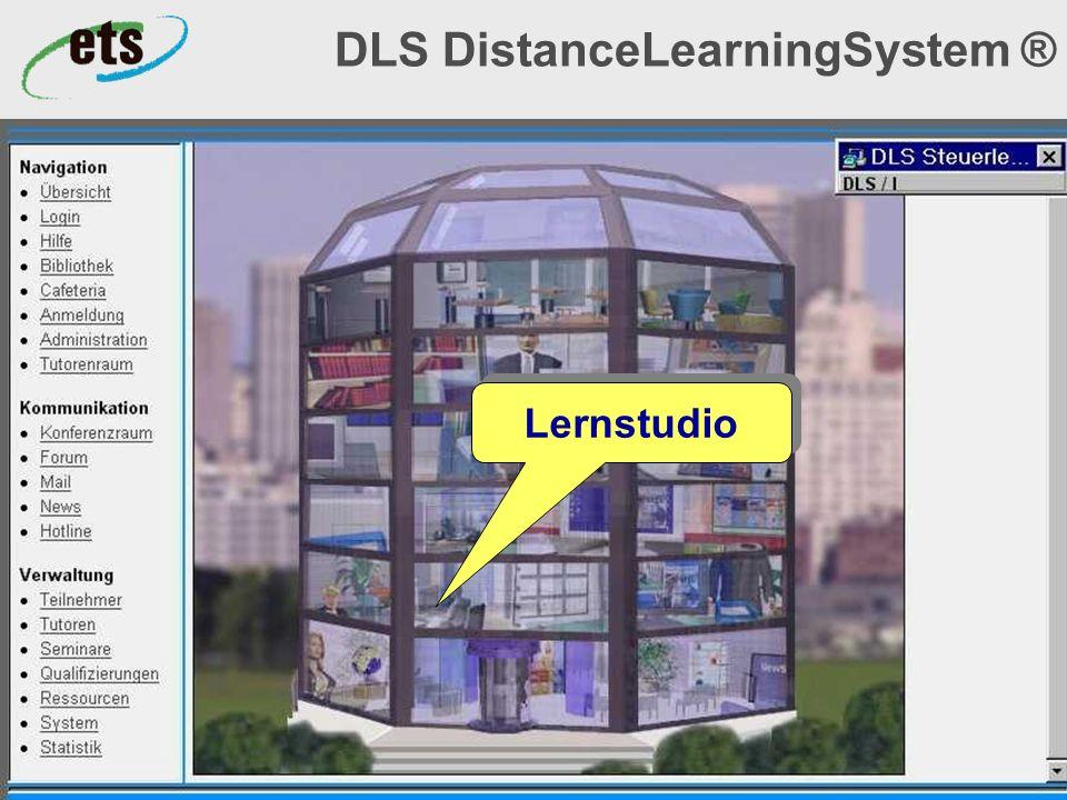 Okt. 2000© ets GmbH - ein Unternehmen der SRH-Gruppe11 DLS DistanceLearningSystem ® Lernstudio