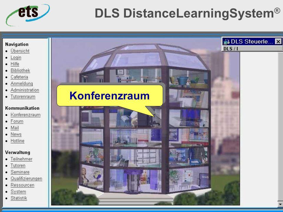 Okt. 2000© ets GmbH - ein Unternehmen der SRH-Gruppe9 DLS DistanceLearningSystem ® Konferenzraum