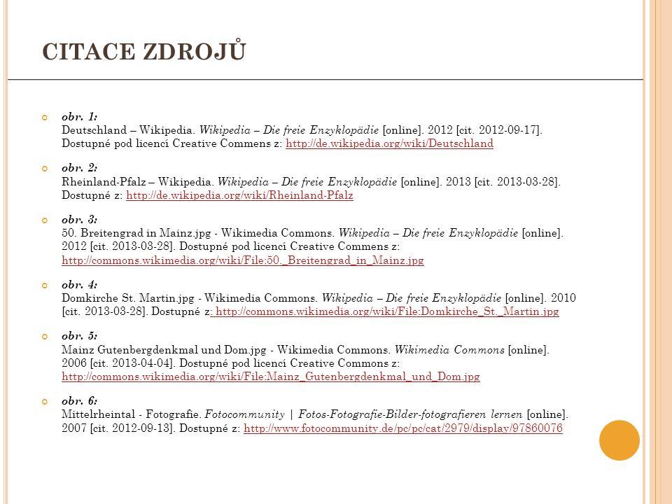 obr. 1: Deutschland – Wikipedia. Wikipedia – Die freie Enzyklopädie [online]. 2012 [cit. 2012-09-17]. Dostupné pod licencí Creative Commens z: http://