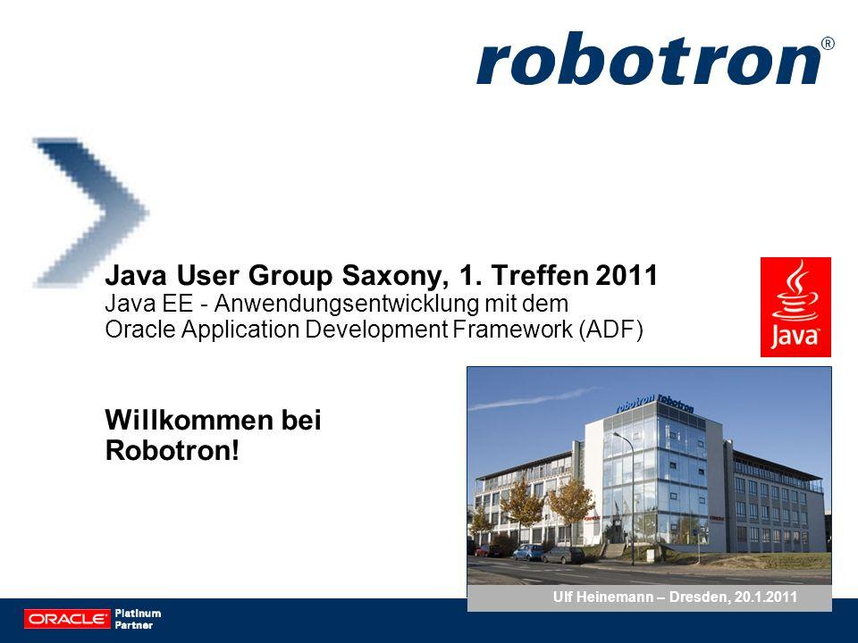 Lösungs- und Entwicklungs- partnerschaft Oracle-Partner ISO 9001 zertifiziert Zahlen und Fakten Robotron Datenbank-Software GmbH Gründungsjahr 1990 Mitarbeiterzahl 227 (Stand 01/2011) Stammkapital 1,8 Mio.