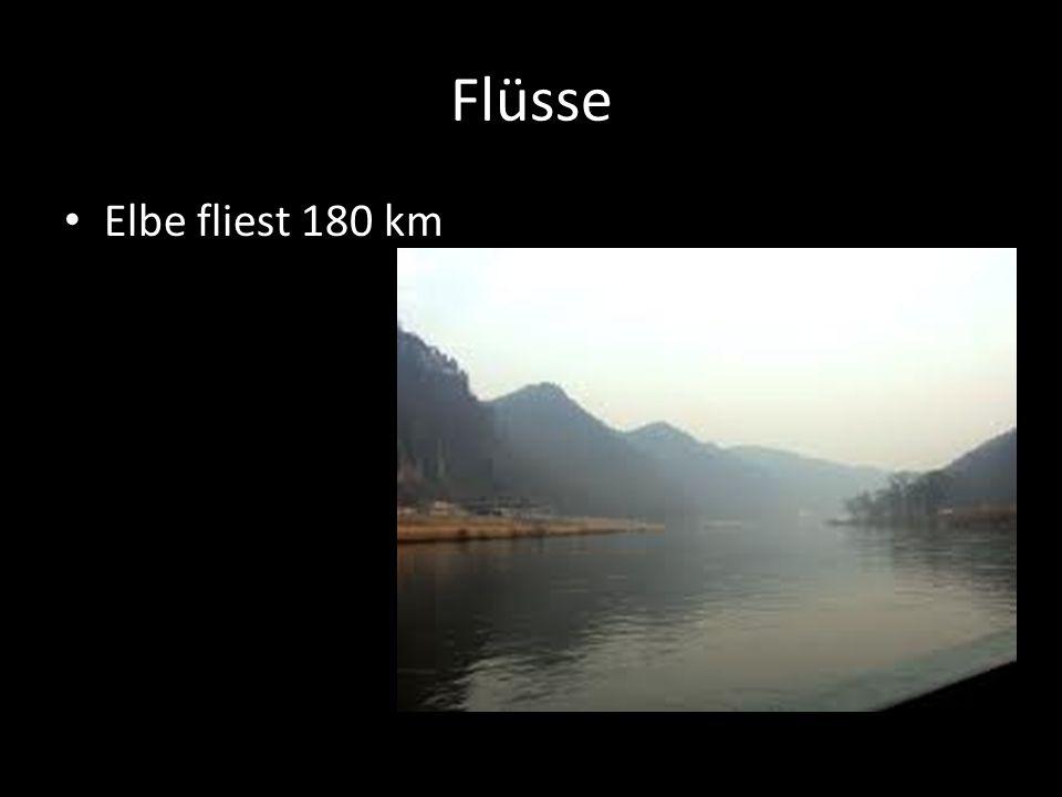 Flüsse Elbe fliest 180 km