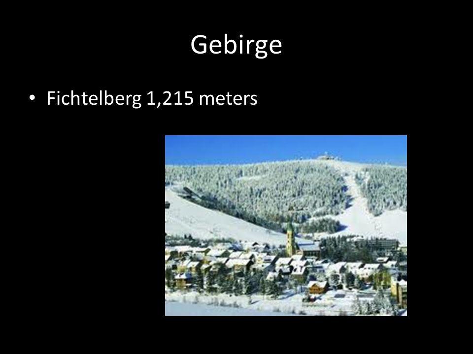 Gebirge Fichtelberg 1,215 meters