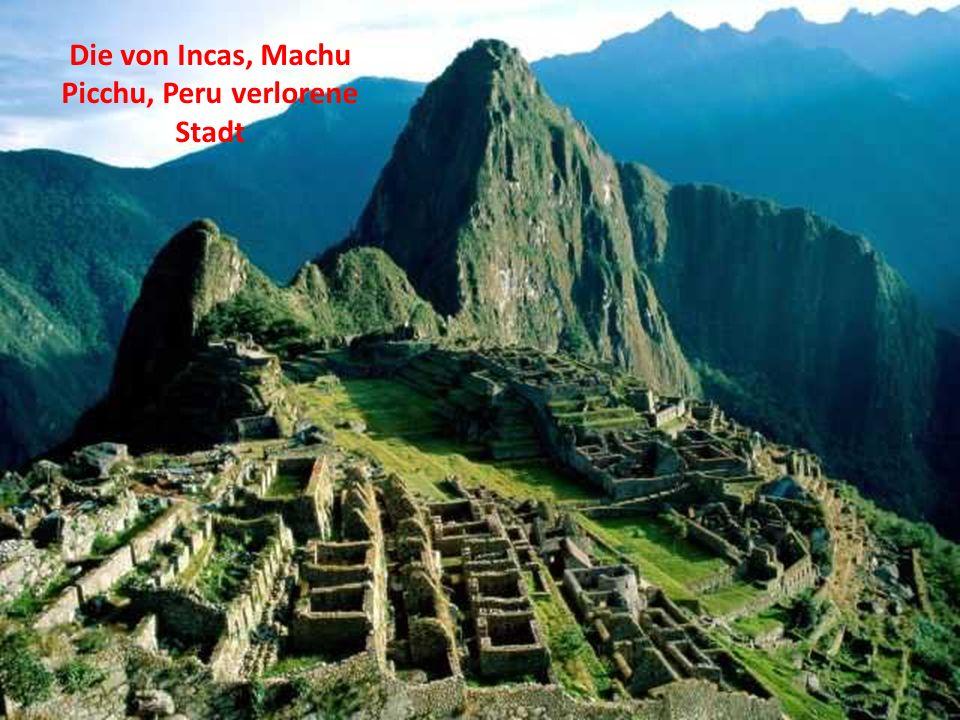 Die von Incas, Machu Picchu, Peru verlorene Stadt