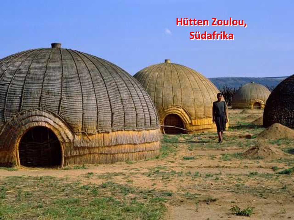 Hütten Zoulou, Südafrika