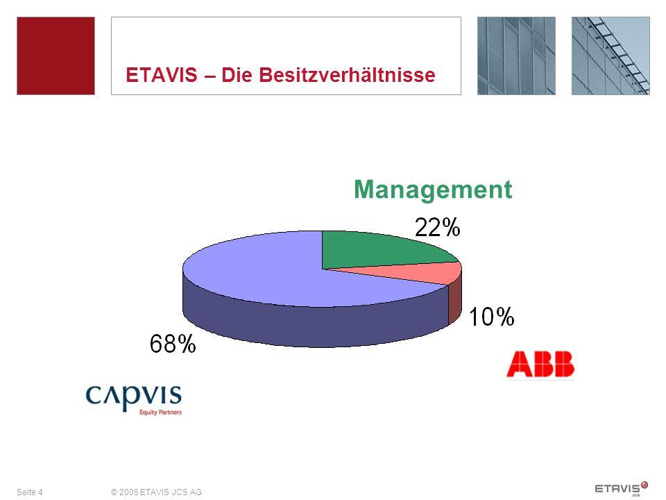 Seite 4© 2005 ETAVIS JCS AG ETAVIS – Die Besitzverhältnisse Management