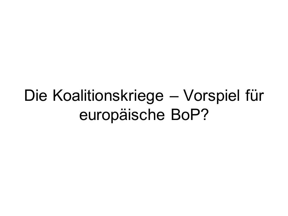 Die Koalitionskriege – Vorspiel für europäische BoP?