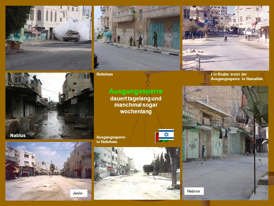 N. Musharbash46 Ein Knabe trotzt der Ausgangssperre in Ramallah Hebron Ausgangssperre dauert tagelang und manchmal sogar wochenlang Jenin Ausgangssper