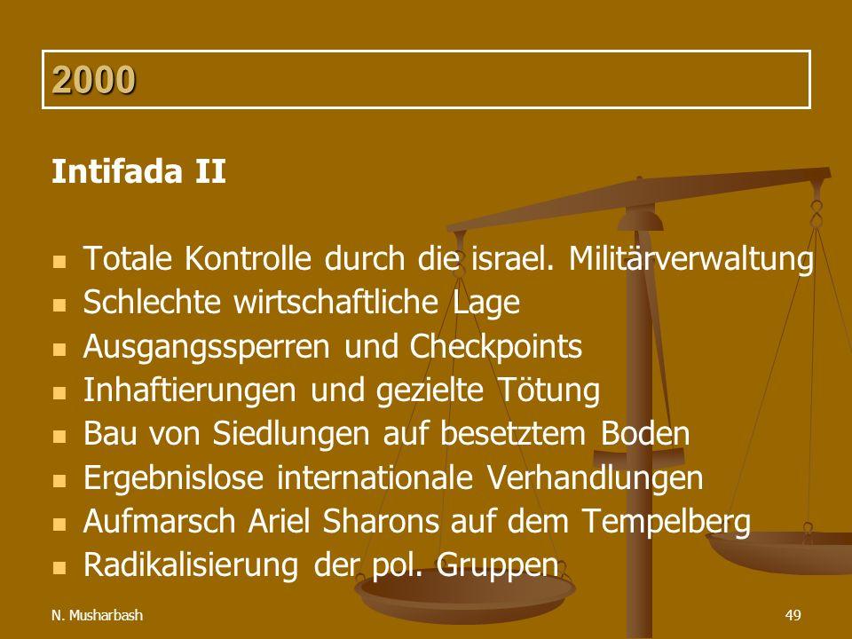 N.Musharbash49 2000 Intifada II Totale Kontrolle durch die israel.