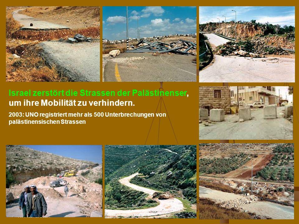 N.Musharbash70 Israel zerstört die Strassen der Palästinenser, um ihre Mobilität zu verhindern.
