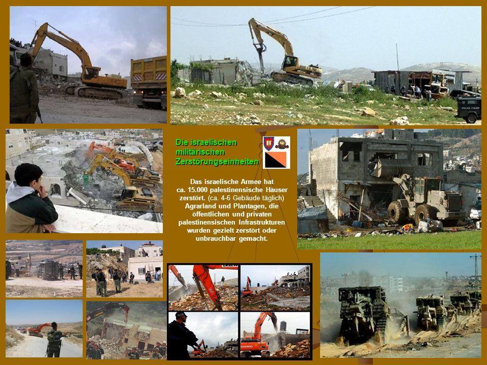N.Musharbash86 Die israelischen militärischen Zerstörungseinheiten Das israelische Armee hat ca.