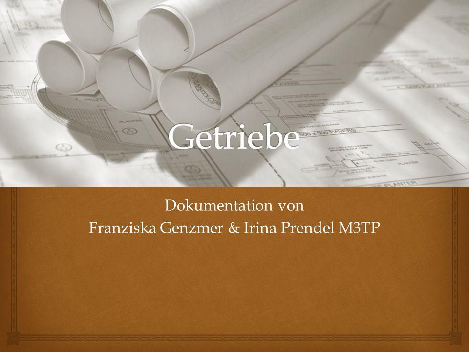 Dokumentation von Franziska Genzmer & Irina Prendel M3TP