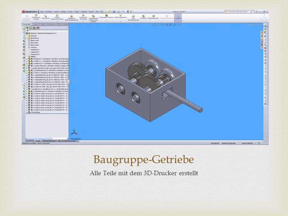 Baugruppe-Getriebe Alle Teile mit dem 3D-Drucker erstellt