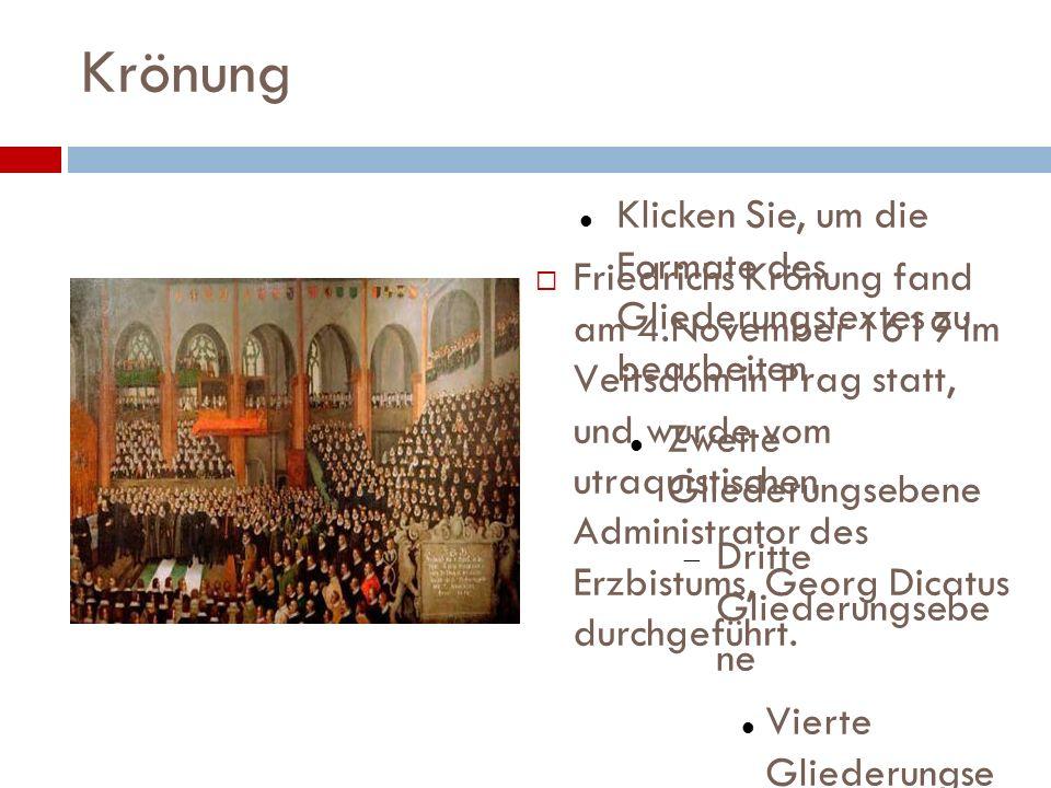 Regierung Schon zum Amtsantritt von Friedrich V.waren die Finanzen Böhmens tief zerrüttet.