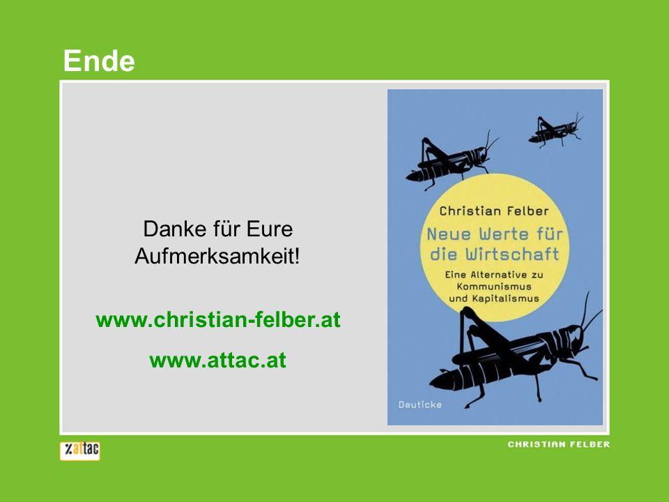 Danke für Eure Aufmerksamkeit! www.christian-felber.at www.attac.at Ende