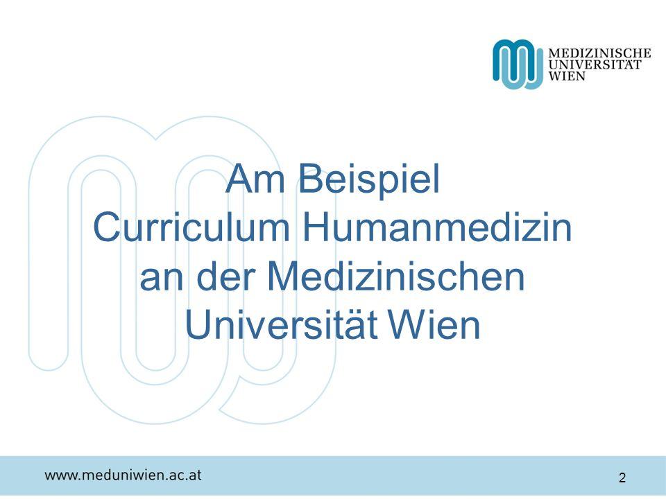 Am Beispiel Curriculum Humanmedizin an der Medizinischen Universität Wien 2