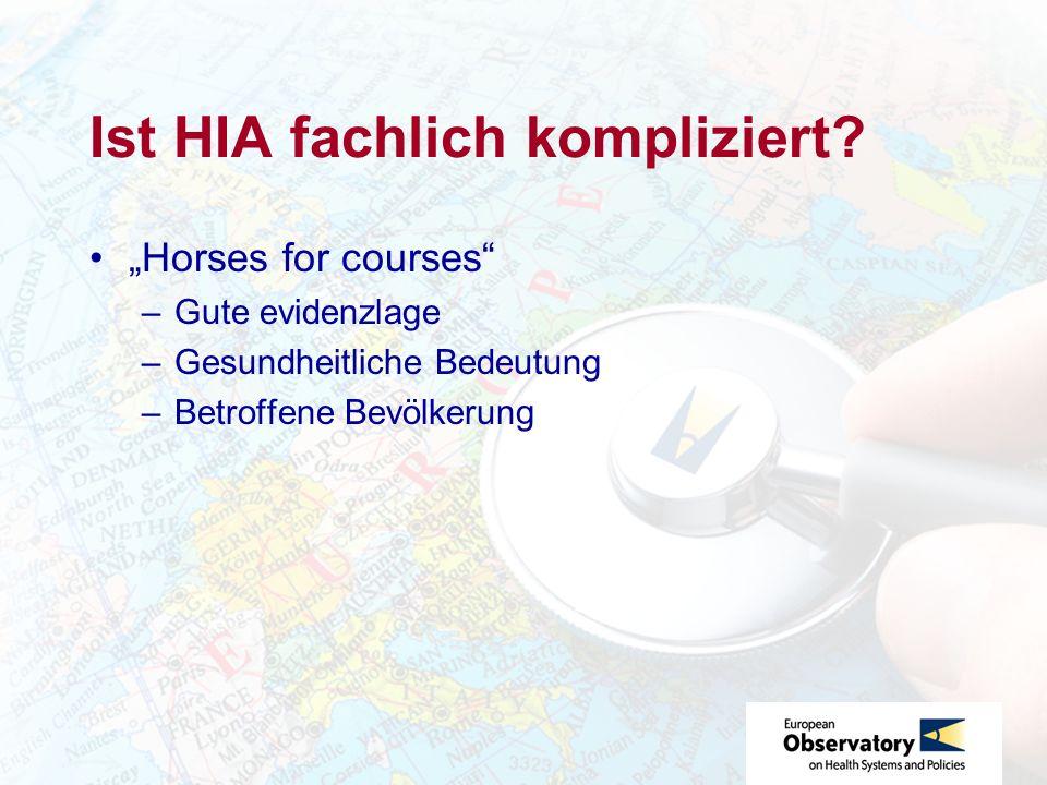 Ist HIA fachlich kompliziert.