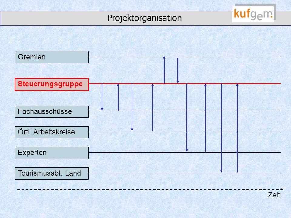 Projektorganisation Gremien Steuerungsgruppe Fachausschüsse Örtl.