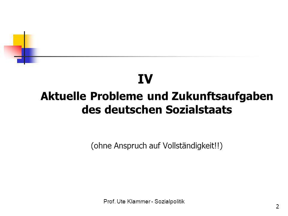 Prof.Ute Klammer - Sozialpolitik 13 10.