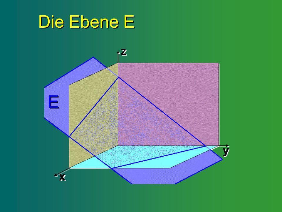 Die Ebene E Die Ebene E E E