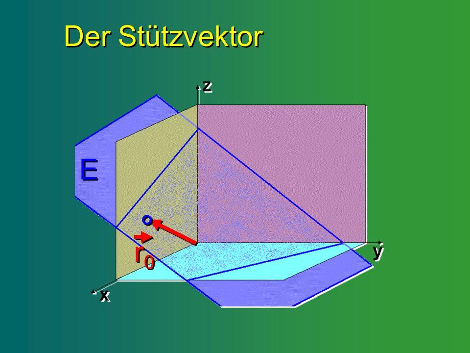 Der Stützvektor Der Stützvektor E E r0r0 r 0