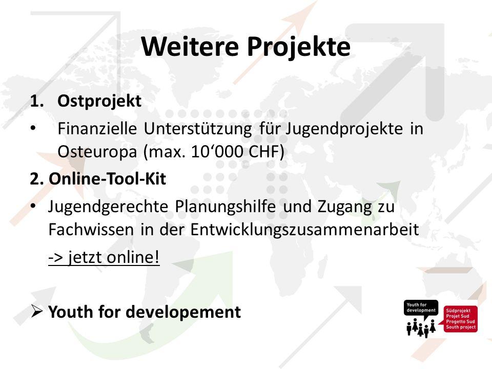 Weitere Projekte 1.Ostprojekt Finanzielle Unterstützung für Jugendprojekte in Osteuropa (max.