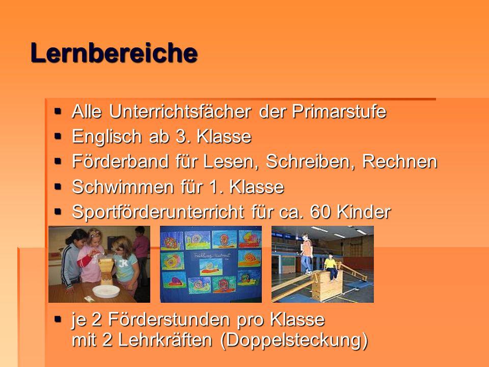 Lernbereiche Alle Unterrichtsfächer der Primarstufe Alle Unterrichtsfächer der Primarstufe Englisch ab 3. Klasse Englisch ab 3. Klasse Förderband für