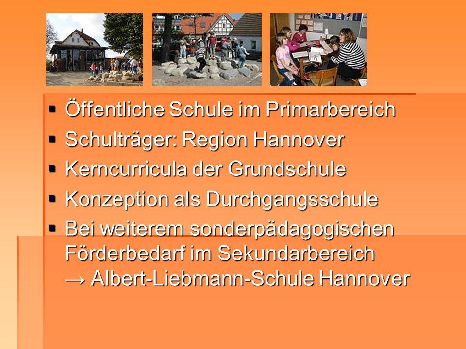Öffentliche Schule im Primarbereich Öffentliche Schule im Primarbereich Schulträger: Region Hannover Schulträger: Region Hannover Kerncurricula der Gr