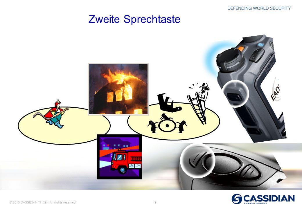 © 2010 CASSIDIAN THR9i - All rights reserved 9 Zweite Sprechtaste