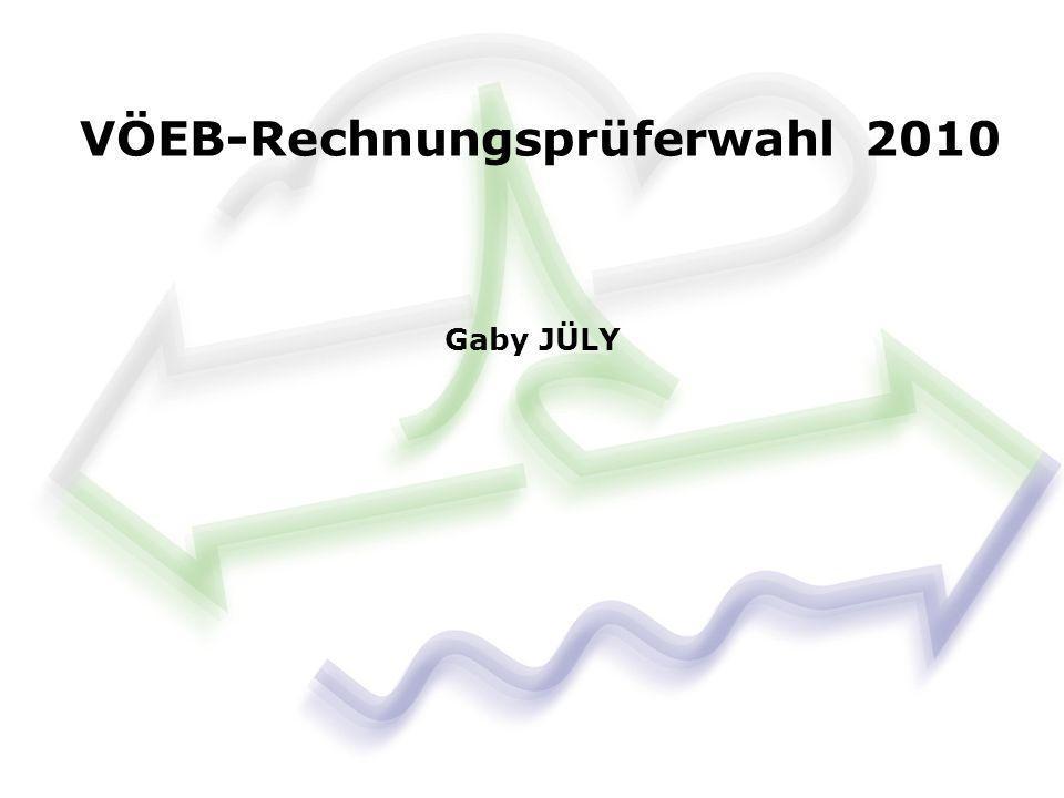 VÖEB-Rechnungsprüferwahl 2010 Gaby JÜLY