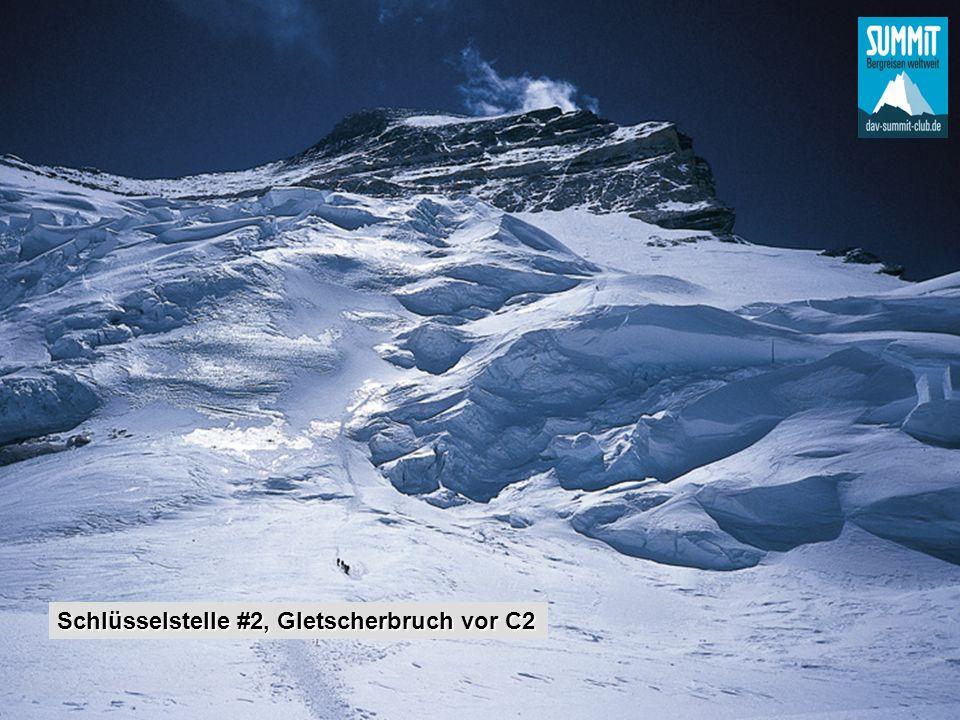 Schlüsselstelle #2, Gletscherbruch vor C2