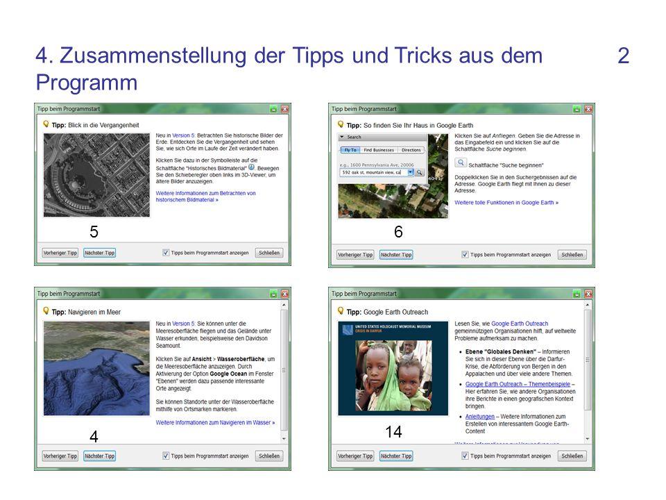 2 4 56 14 4. Zusammenstellung der Tipps und Tricks aus dem Programm