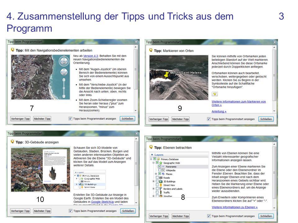 3 79 10 8 4. Zusammenstellung der Tipps und Tricks aus dem Programm