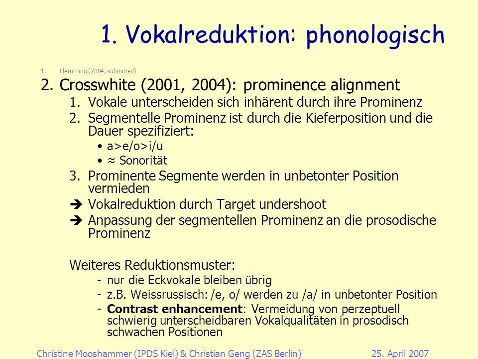 Christine Mooshammer (IPDS Kiel)& Christian Geng (ZAS Berlin)25.