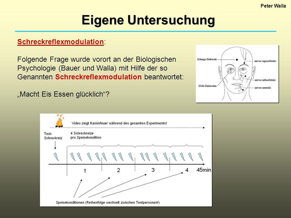 Peter Walla Eigene Untersuchung Schreckreflexmodulation: Folgende Frage wurde vorort an der Biologischen Psychologie (Bauer und Walla) mit Hilfe der s
