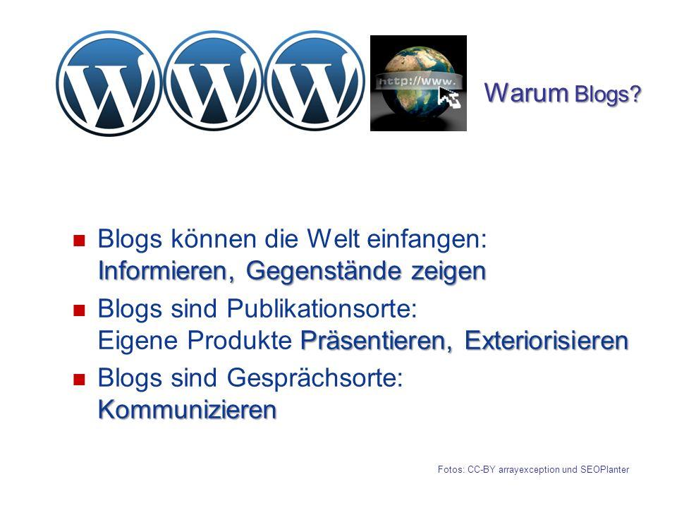 Informieren, Gegenstände zeigen Blogs können die Welt einfangen: Informieren, Gegenstände zeigen Präsentieren, Exteriorisieren Blogs sind Publikations