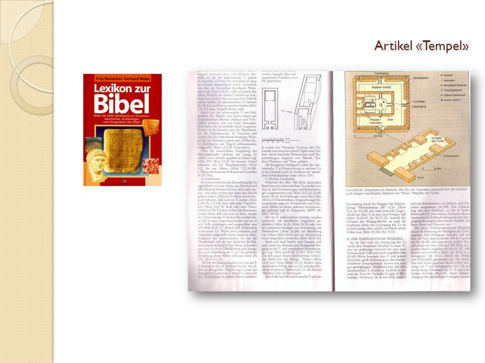 Artikel «Tempel»